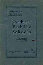 Thumbnail image of Cythiana Public Schools 1927 Report cover