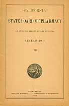 Thumbnail image of California Board of Pharmacy 1912 Annual Report cover