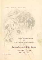 Thumbnail image of Lykens Borough High School 8th Annual Commencement cover