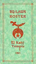 Thumbnail image of El Katif Temple 1921 By-Laws and Roster cover