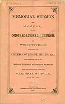 Thumbnail image of Wolcottville Congregational Church 1876 Members cover