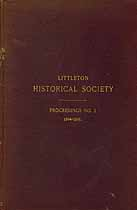 Thumbnail image of Littleton Historical Society 1894-95 Proceedings cover