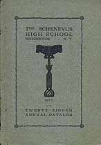 Thumbnail image of Schenevus High School 1911-1912 Catalog cover