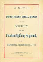Thumbnail image of Fourteenth Connecticut Regiment 1886 Reunion cover