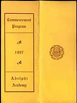 Thumbnail image of Adelphi Academy 1907 Commencement Program cover