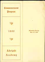 Thumbnail image of Adelphi Academy 1908 Commencement Program cover