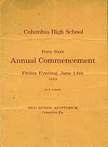 Thumbnail image of Columbia High School 1918 Commencement cover