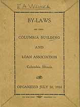 Thumbnail image of Columbia Building and Loan Association 1914 Stockholders cover