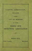 Thumbnail image of Rising Sun Detective Association 1926 Members cover