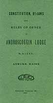 Thumbnail image of Androscoggin Lodge, No. 24, I.O.O.F. Members for 1907 cover