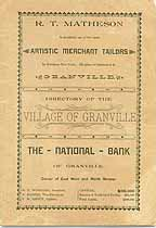 Thumbnail image of Granville 1893 Directory of Inhabitants cover