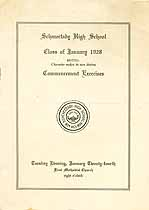 Thumbnail image of Schenectady High School 1928 Commencement cover