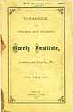 Thumbnail image of Greely Institute 1871 Catalogue cover