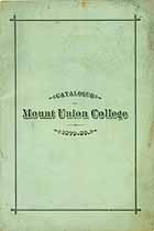 Thumbnail image of Mount Union College 1879-80 Catalogue cover