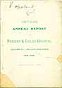 Thumbnail image of Nursery and Childs Hospital 1886 Report cover
