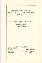Thumbnail image of Roosevelt High School 1932 Commencement cover
