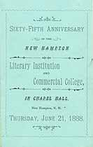 Thumbnail image of New Hampton Literary Institution and Commercial College 1888 Anniversary cover