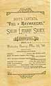 Thumbnail image of Shiloh Literary Society 1888 Program for 'The Haymakers' cover