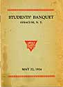 Thumbnail image of Syracuse Students' 1924 Banquet cover