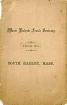 Thumbnail image of Mt. Holyoke Female Seminary 1869 Catalogue cover