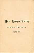 Thumbnail image of Maine Wesleyan Seminary 1872-73 Catalogue cover