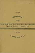 Thumbnail image of South Jersey Institute 1883-84 Catalogue cover