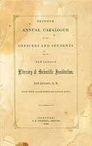 Thumbnail image of New London Literary and Scientific Institution 1860 Catalogue cover