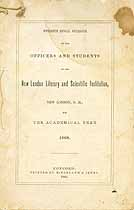 Thumbnail image of New London Literary and Scientific Institution 1868 Catalogue cover