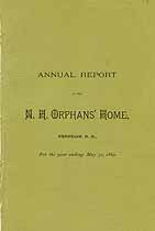Thumbnail image of N. H. Orphan's Home 1889 Annual Report cover