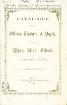 Thumbnail image of Lynn High School 1867 Catalogue cover