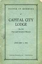 Thumbnail image of Capital City Lodge 1924 Roster of Members cover