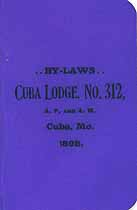 Thumbnail image of Cuba Lodge, No. 312, 1898 Member List cover