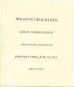 Thumbnail image of Mahopac High School 1925 Commencement cover