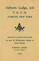 Thumbnail image of Auburn Lodge 1928 Members cover