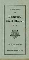 Thumbnail image of Amaranthe O. E. S. Grand Chapter 1929 Roster cover