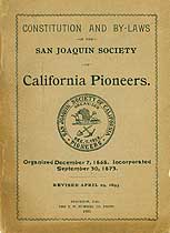 Thumbnail image of San Joaquin Society of Ca. Pioneers 1893 Members cover
