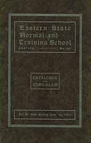 Thumbnail image of Eastern State Normal and Training School 1903 Catalogue cover