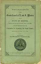 Thumbnail image of Missouri Grand Council R. & S. M. 1867 Proceedings cover