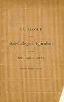 Thumbnail image of Maine School of Agriculture 1891-92 Catalogue cover