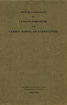 Thumbnail image of Lyndon Institute and School of Agriculture 1913-1914 Catalogue cover