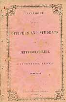 Thumbnail image of Jefferson College 1849 Catalogue cover