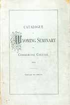 Thumbnail image of Wyoming Seminary 1880 Catalogue cover