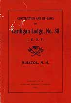 Thumbnail image of Cardigan Lodge, No. 38 List of 1908 Members cover