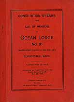 Thumbnail image of Ocean Lodge, No. 91, List of 1918 Members cover