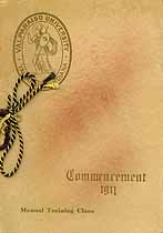 Thumbnail image of Valparaiso University 1911 Commencement cover