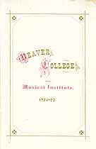 Thumbnail image of Beaver College and Musical Institute 1872 Catalogue cover