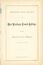 Thumbnail image of Ohio Wesleyan Female College 1869 Catalogue cover