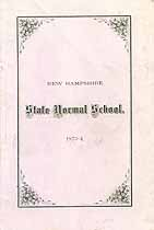 Thumbnail image of New Hampshire State Normal School 1873-4 Catalogue cover