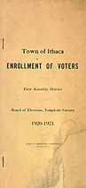 Thumbnail image of Ithaca 1920-1921 Enrollment of Voters cover