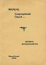 Thumbnail image of Reading Congregational Church 1900 Manual cover